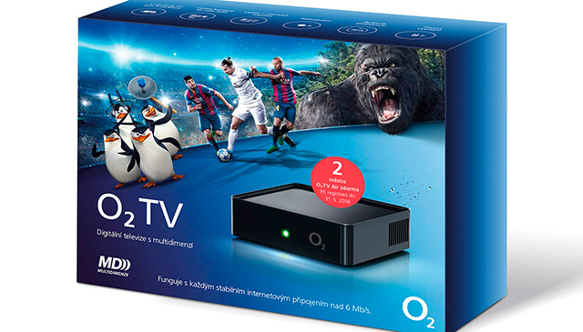 O2 TV set-top-box v krabici