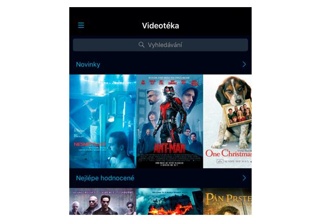 O2 TV - Videotéka