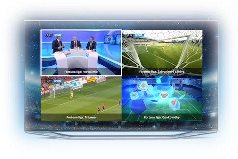 Díky multidimenzi můžete sledovat několi zápasů současně, přepínat mezi různými úhly kamer a dokonce přepnout na jinou jazykovou verzi.