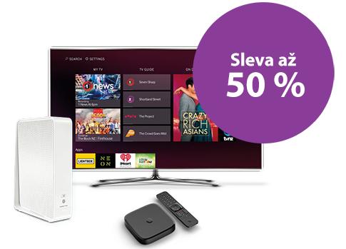 Pokud si pořídíte Vodafone TV s internetem od Vodafonu, získáte slevu až 50 %.