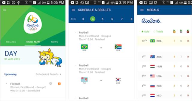 Rio 2016 aplikace