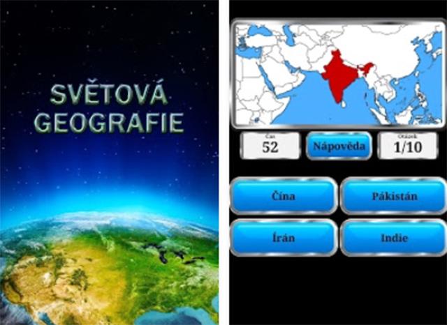 Aplikace Světová geografie
