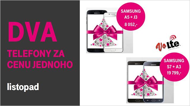 T-Mobile vánoční nadílka - dva telefony za cenu jendoho