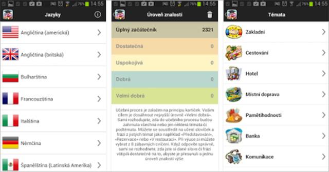 Aplikace Výuka jazyků Jourist